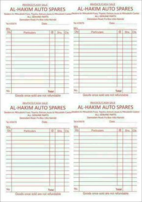 Receipt Book /Invoice Book /Delivery Book printing