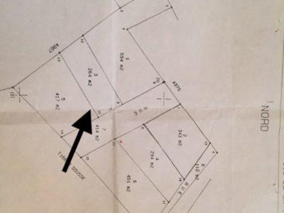 Privé: Terrain constructible de 265 m, à 6 km du centre ville et à 1 km de l'école et lycée Idéal sur deux routes  de la ville Kalaa Kebira (fedn3on) 54450779