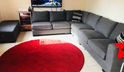 4pc Sectional sofa with storage ottoman