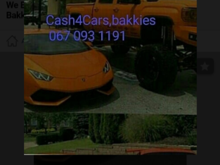 Cash for Cars,Suvs,Bakkies